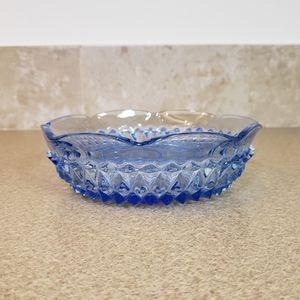 Indiana Glass Ice Blue Diamond Pattern Bowl